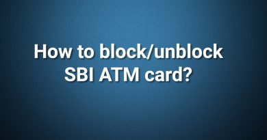 How to block/unblock SBI ATM card?