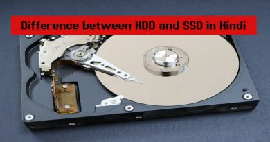 Difference between HDD and SSD in Hindi