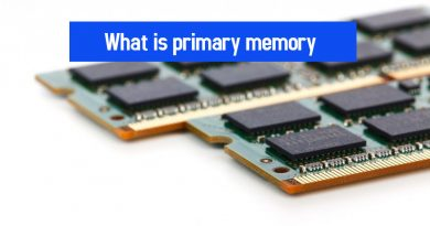 What is primary memory