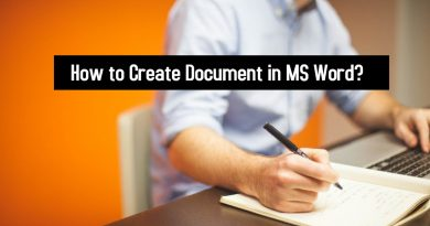 How to Create Document in MS Word